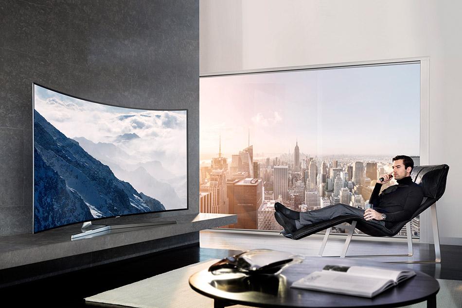 تلویزیون ال ای دی هوشمند خمیده سامسونگ مدل 49KU7975 سایز 49 اینچ