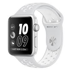 فروش اقساطی ساعت هوشمند اپل واچ سری 3 مدلNike Plus 38mm Silver Aluminum Case with Pure Platinum-Black Nike Sport Band