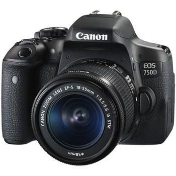 فروش اقساطی دوربين ديجيتال کانن مدل EOS 750D به همراه لنز 55-18 ميلي متر IS STM