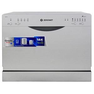 فروش اقساطی ماشین ظرفشویی رومیزی زیرووات مدل ZDCF6