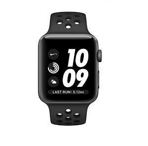 فروش اقساطی ساعت هوشمند اپل واچ سری 3 مدلNike Plus 42mm Space Gray Aluminum Case with Anthracite-Black Nike Sport Band