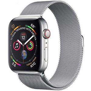 فروش اقساطی ساعت هوشمند اپل واچ سری 4 سلولار مدل 44mm Silver Stainless Steel Case with Silver Milanese Loop