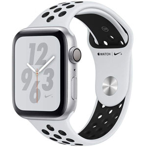 فروش اقساطی ساعت هوشمند اپل واچ 4 مدل Nike 40mm Silver Aluminum Case with Pure Platinum/Black Nike Sport Band