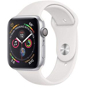 فروش اقساطی ساعت هوشمند اپل واچ 4 مدل 40mm Silver Aluminum Case with White Sport Band