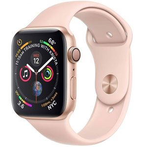 ساعت هوشمند اپل واچ 4 مدل 40mm Gold Aluminum Case with Pink Sand Sport Band