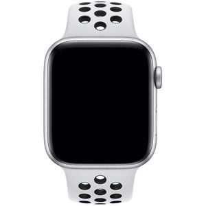 ساعت هوشمند اپل واچ 4 مدل Nike 44mm Silver Aluminum Case with Pure Platinum/Black Nike Sport Band