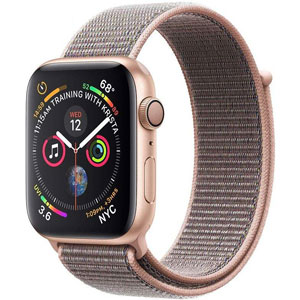 فروش اقساطی ساعت هوشمند اپل واچ 4 مدل 44mm Gold Aluminum Case with Pink Sand Sport Loop Band