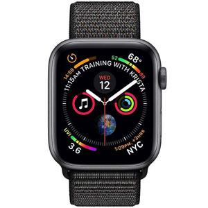 فروش اقساطی ساعت هوشمند اپل واچ 4 مدل 44mm Space Gray Aluminum Case with Black Sport Loop Band
