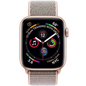 فروش اقساطی ساعت هوشمند اپل واچ 4 مدل 40mm Gold Aluminum Case with Pink Sand Sport Loop Band