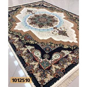 فروش اقساطی فرش تندیس خاطره کاشان طرح الماس زمینه کرم 12 متری کد 1012510