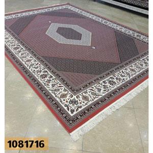 فروش اقساطی فرش تندیس خاطره کاشان طرح بیجار زمینه گلبهی 12 متری کد 1081716