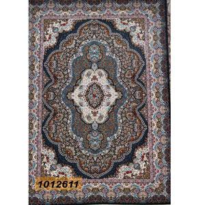 فروش اقساطی فرش تندیس خاطره کاشان طرح پاریز زمینه سرمه ای 12 متری کد 1012611