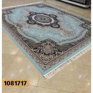 فرش تندیس خاطره کاشان طرح ترلان زمینه آبی 12 متری کد 1081717