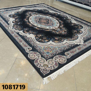 فروش اقساطی فرش تندیس خاطره کاشان طرح روناک زمینه سرمه ای 12 متری کد 1081719