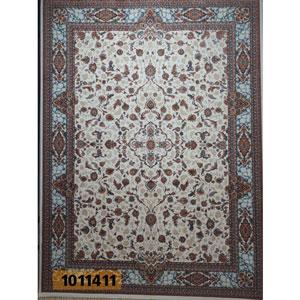 فروش اقساطی فرش تندیس خاطره کاشان مدل افشان زمینه کرم 12 متری کد1011411