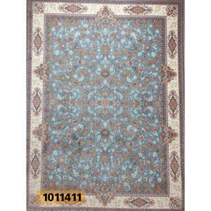 فروش اقساطی فرش تندیس خاطره کاشان طرح افشان زمینه نقره ای 12 متری کد 1011411