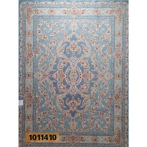 فروش اقساطی فرش تندیس خاطره کاشان طرح اوین زمینه نقره ای 12 متری کد 1011410