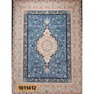 فروش اقساطی فرش تندیس خاطره کاشان طرح سها زمینه کاربنی 12 متری کد 1011412