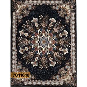 فروش اقساطی فرش تندیس خاطره کاشان طرح آدرینا زمینه مشکی 9 متری کد 7011610