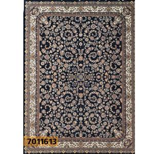 فروش اقساطی فرش تندیس خاطره کاشان طرح افشان دلربا زمینه مشکی 9 متری کد 1011613