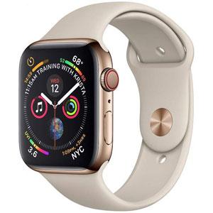 خرید اقساطی ساعت هوشمند اپل سری 4 سلولار مدل 40mm Gold Stainless Steel Case with Stone Sport Band