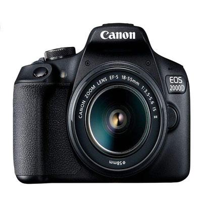 فروش نقدی یا اقساطی دوربین دیجیتال کانن مدل EOS 2000D به همراه لنز 18-55 میلی متر IS II