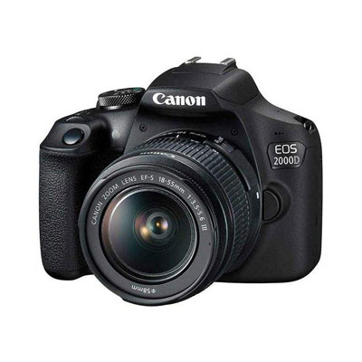 فروش نقدی یا اقساطی دوربین دیجیتال کانن مدل EOS 2000D به همراه لنز 18-55 میلی متر DC III