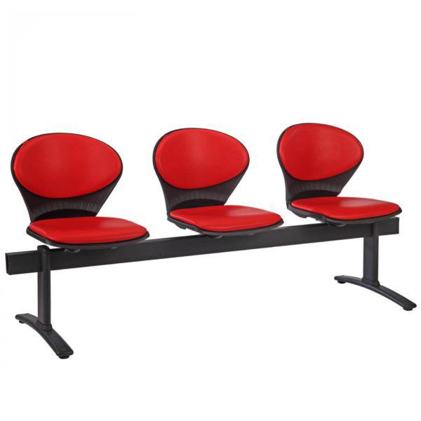 فروش نقدی و اقساطی صندلی انتظار سه نفره بی دسته نیلپر مدل OCW 415X3