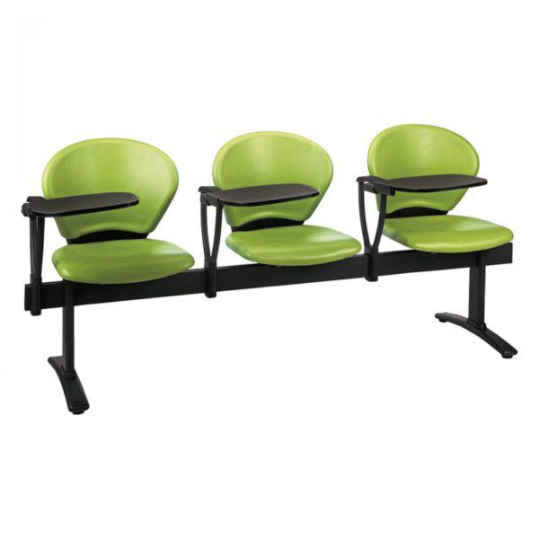 فروش نقدی و اقساطی صندلی انتظار چهار نفره با دسته دانش آموزی نیلپر مدل OCW 315N4