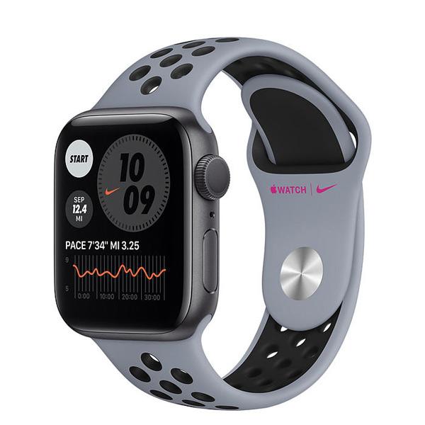 فروش نقدی و اقساطی ساعت هوشمند اپل واچ سری 6 مدل 40mm Space Gray Aluminum Case with Nike Sport Band