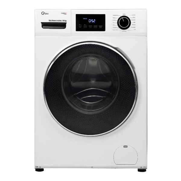 فروش نقدی و اقساطی ماشین لباسشویی جی پلاس مدل GWM-K824W ظرفیت 8 کیلوگرم