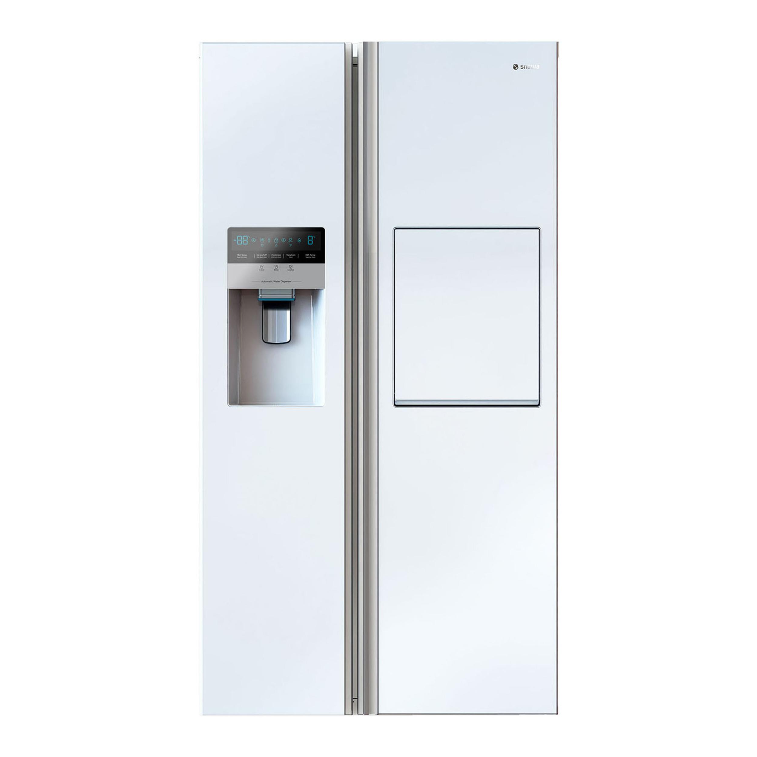فروش نقدی و اقساطی یخچال و فریزر ساید بای ساید اسنوا مدل S8-2322GW