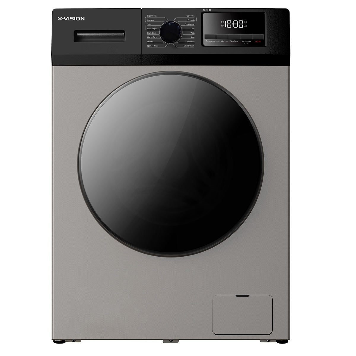 فروش نقدی و اقساطی ماشین لباسشویی ایکس ویژن مدل ماشین لباسشویی ایکس ویژن مدل TG72-BW/BS ظرفیت 7کیلوگرم