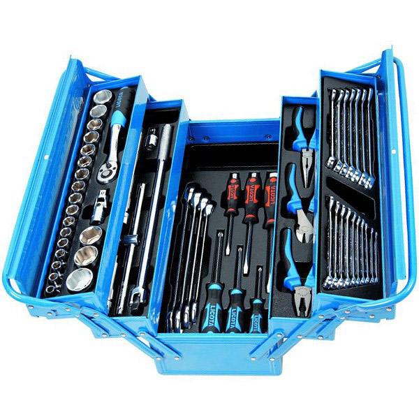 فروش نقدی و اقساطی مجموعه 57 عددی جعبه ابزار لیکوتا مدل AHB-533K01