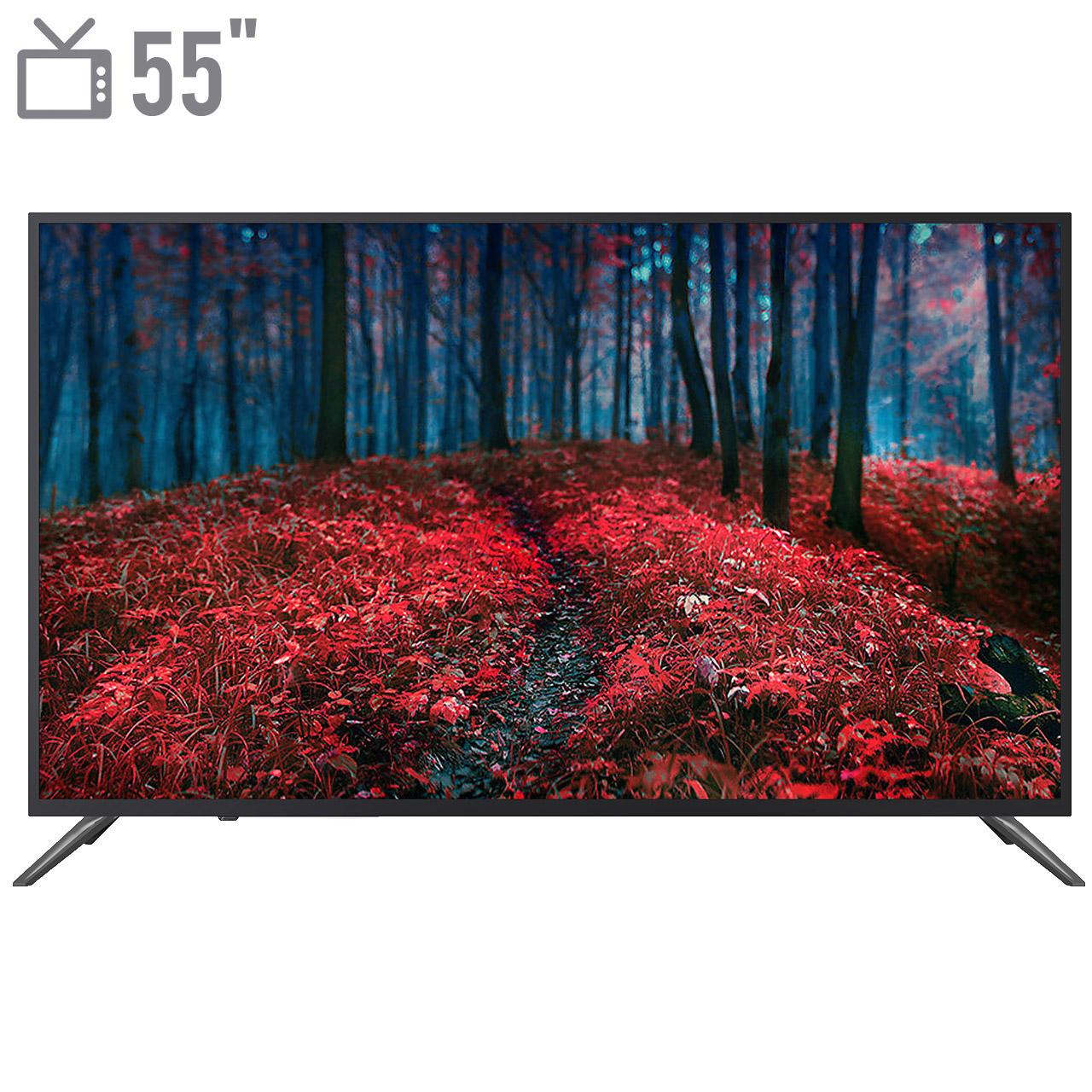 فروش نقدی و اقساطی تلویزیون ال ای دی هوشمند شهاب مدل SH102U1 سایز 55 اینچ