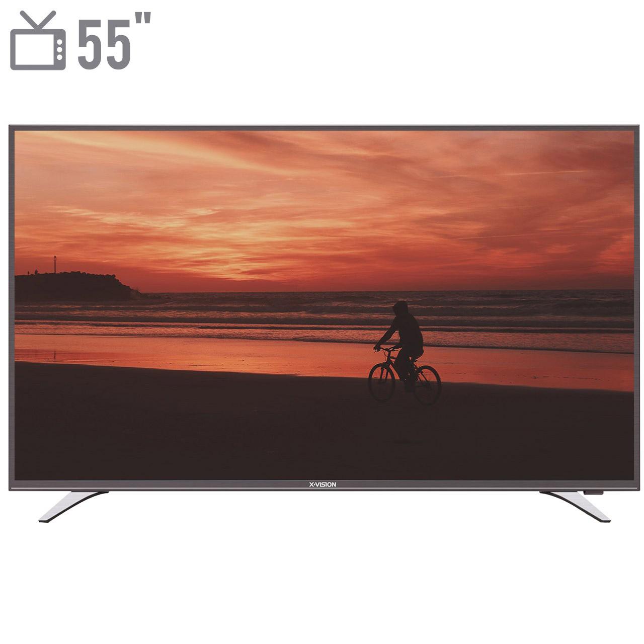 فروش اقساطی تلویزیون ال ای دی هوشمند ایکس ویژن مدل 55XT515 سایز 55 اینچ