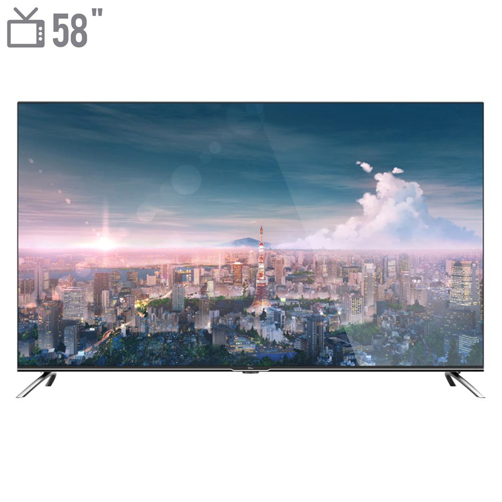 فروش نقدی و اقساطی تلویزیون ال ای دی هوشمند جی پلاس مدل GTV-58LU722S سایز 58 اینچ