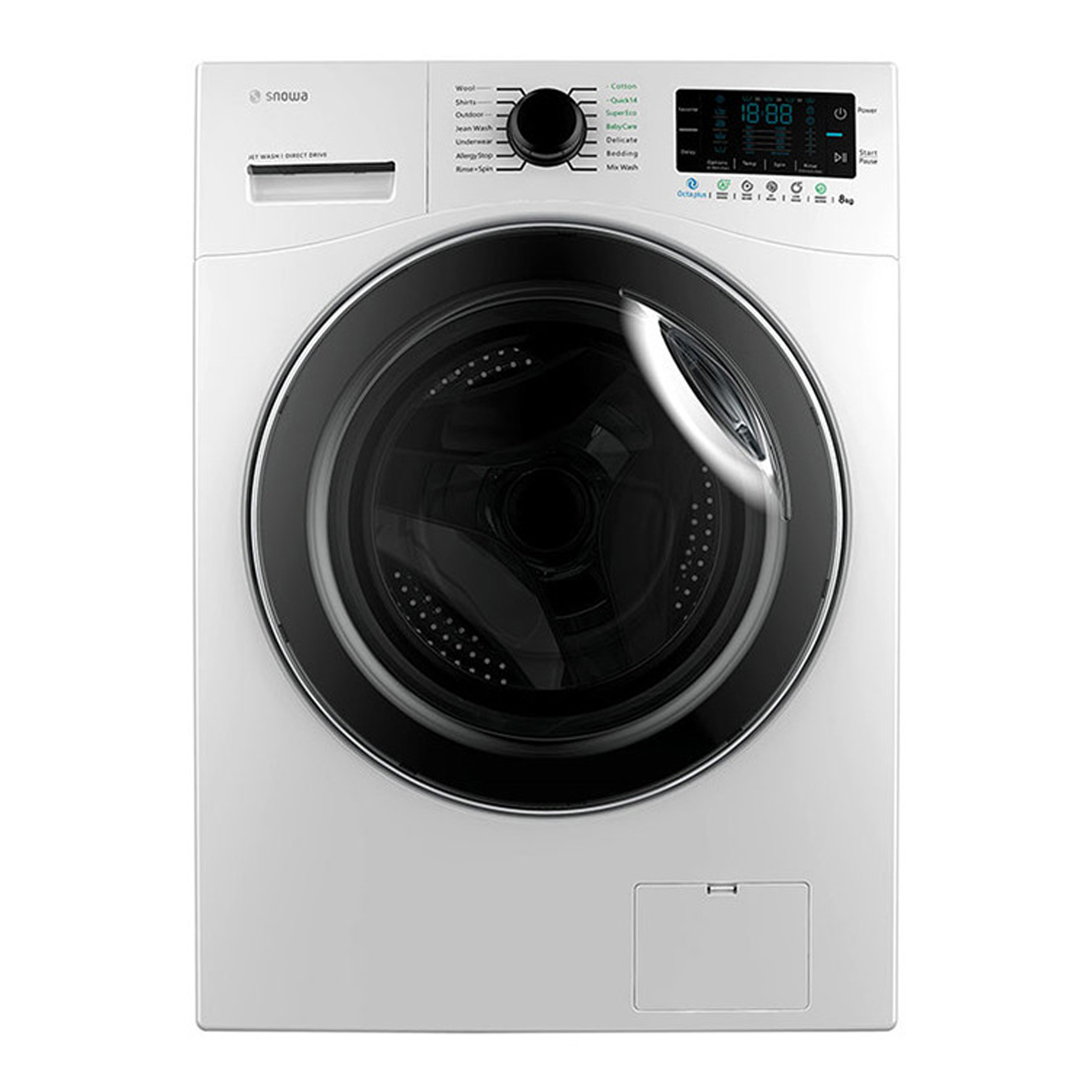 فروش نقدی و اقساطی ماشین لباسشویی اسنوا مدل SWM-84516 ظرفیت 8 کیلوگرم