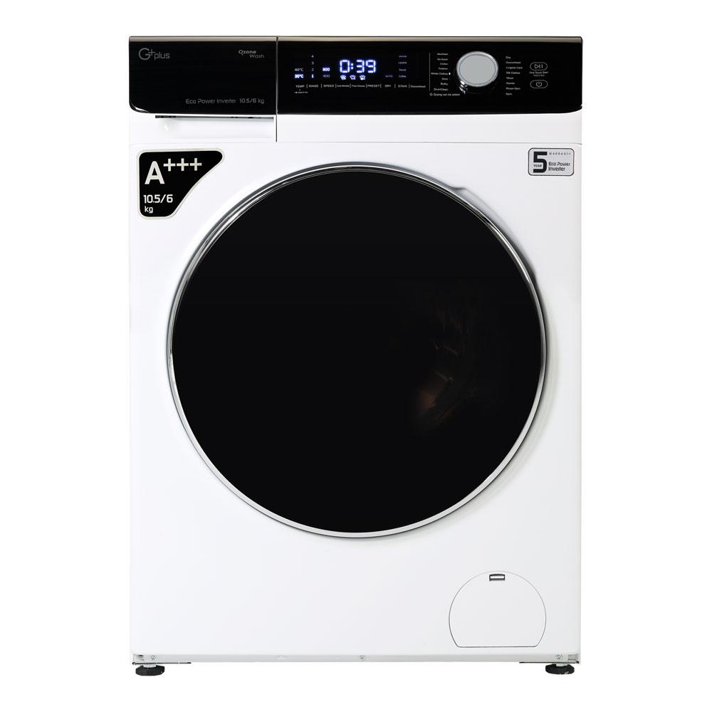 فروش نقدی و اقساطی ماشین لباسشویی جی پلاس مدل GWM-K1048W ظرفیت 10.5 کیلوگرم