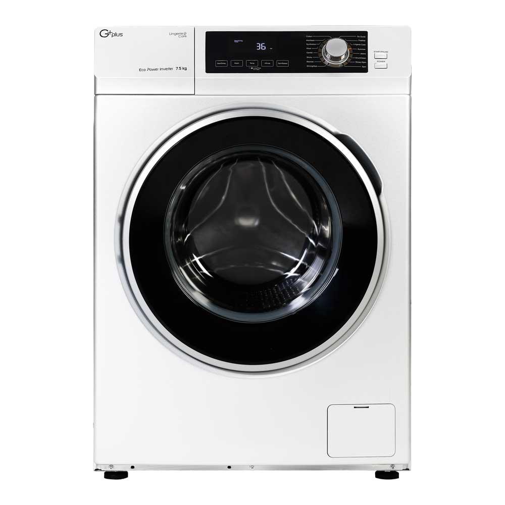 فروش نقدی و اقساطی ماشین لباسشویی جی پلاس مدل GWM-K723W ظرفیت 7.5 کیلوگرم