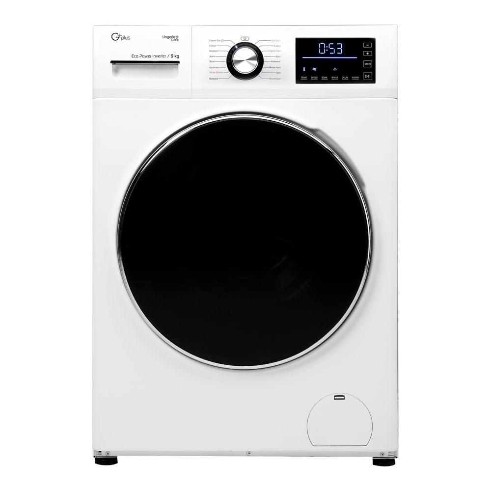 فروش نقدی و اقساطی ماشین لباسشویی جی پلاس مدل GWM-K945W ظرفیت 9 کیلوگرم