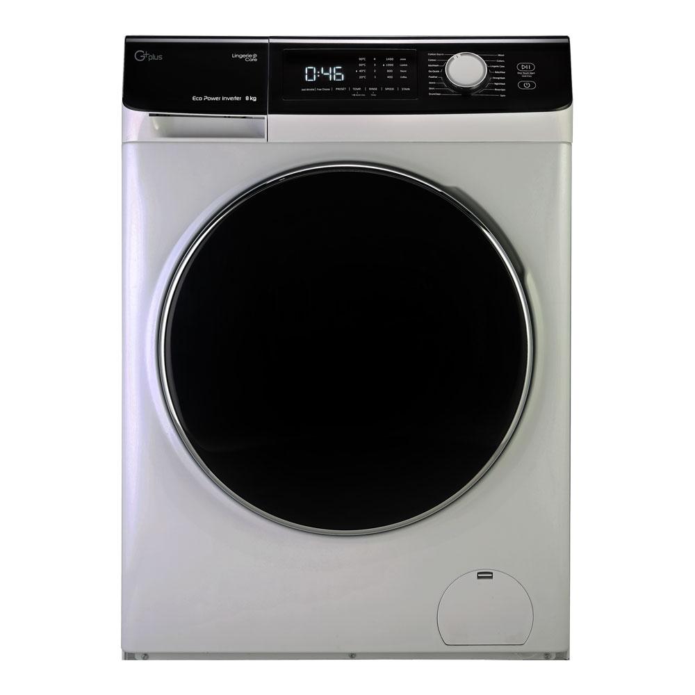 فروش نقدی و اقساطی ماشین لباسشویی جی پلاس مدل GWM-K846S ظرفیت 8 کیلوگرم