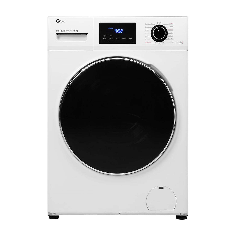 فروش نقدی و اقساطی ماشین لباسشویی جی پلاس مدل GWM-K844W ظرفیت 8 کیلوگرم