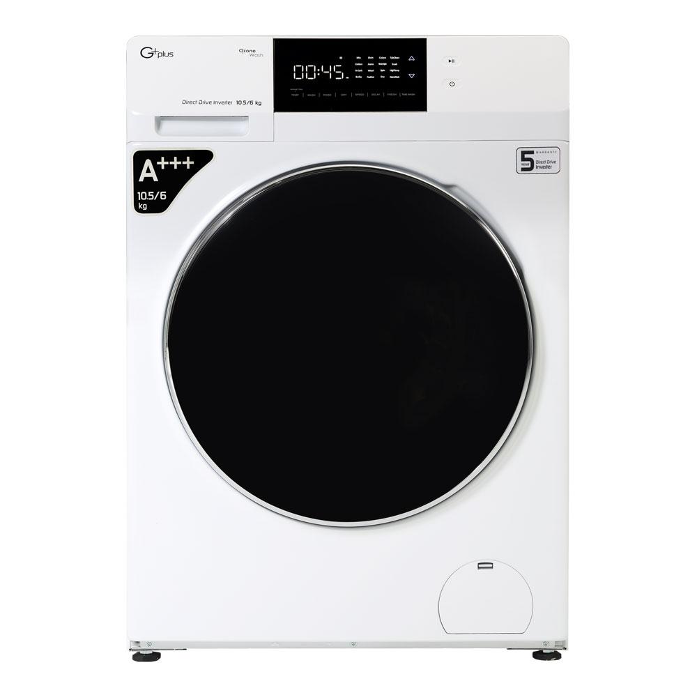 فروش نقدی و اقساطی ماشین لباسشویی جی پلاس مدل GWM-KD1049W ظرفیت 10.5 کیلوگرم
