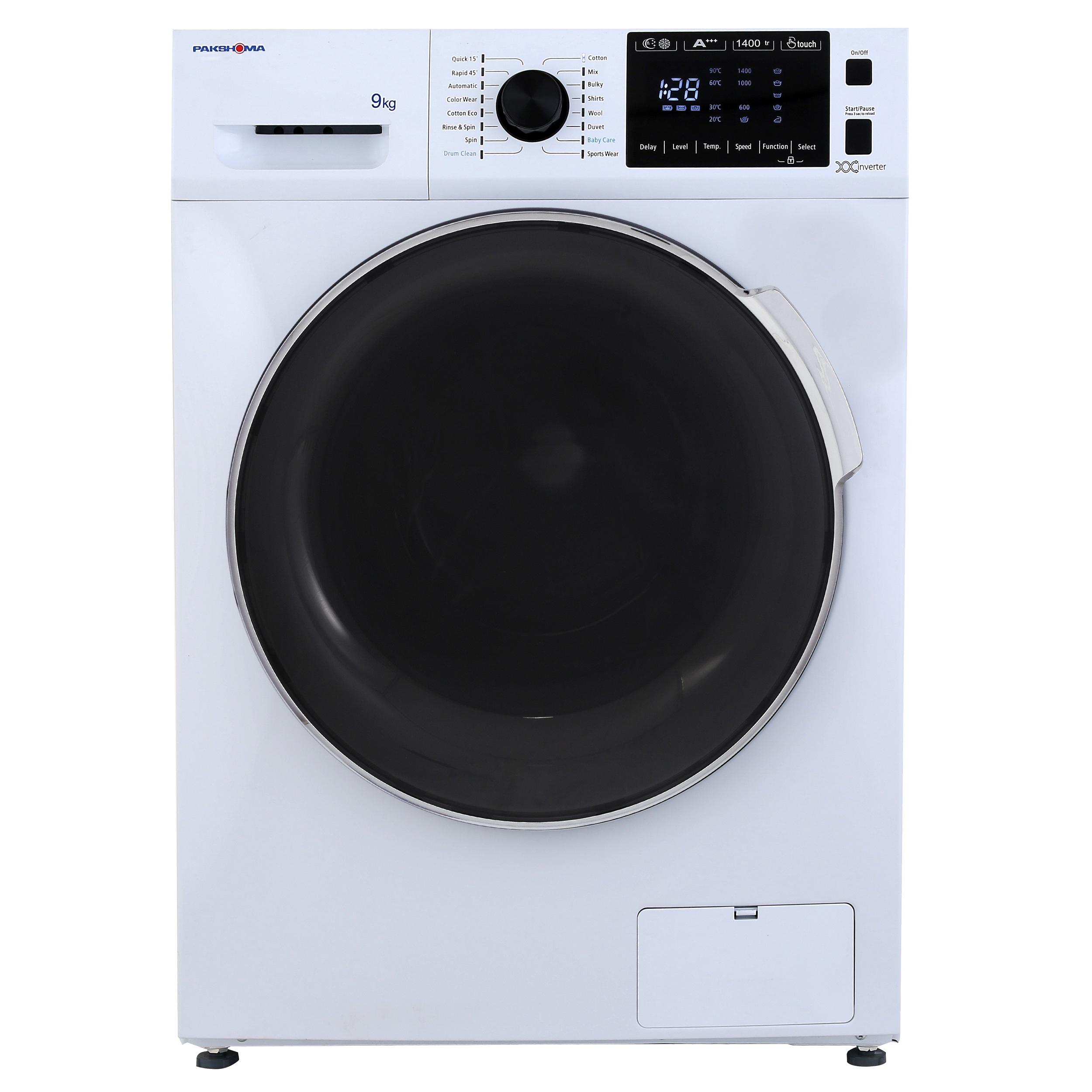 فروش نقدی یا اقساطی ماشین لباسشویی پاکشوما مدل TFI 94401 ظرفیت 9 کیلوگرم