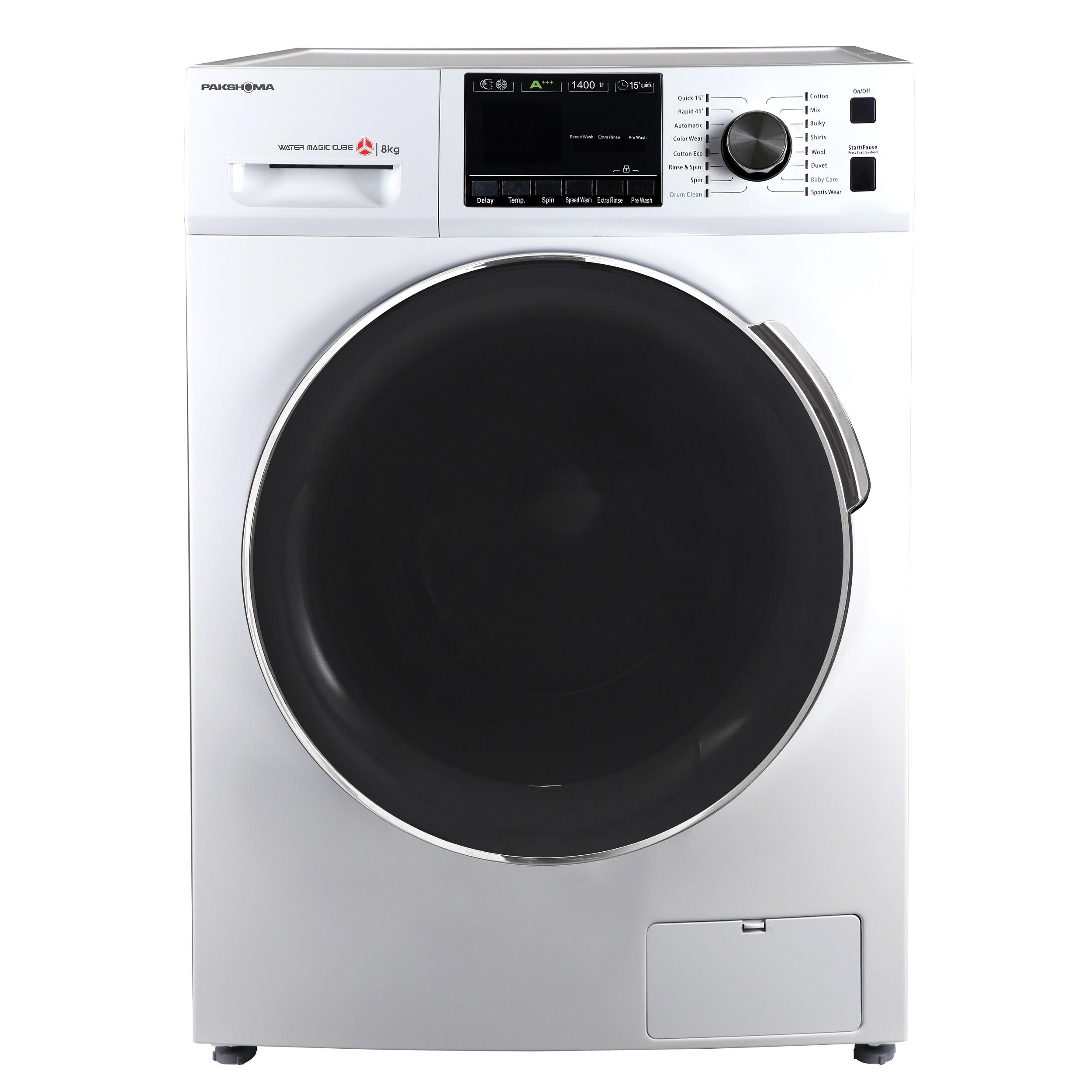 فروش نقدی یا اقساطی ماشین لباسشویی پاکشوما مدل TFU-83401 ظرفیت 8 کیلوگرم