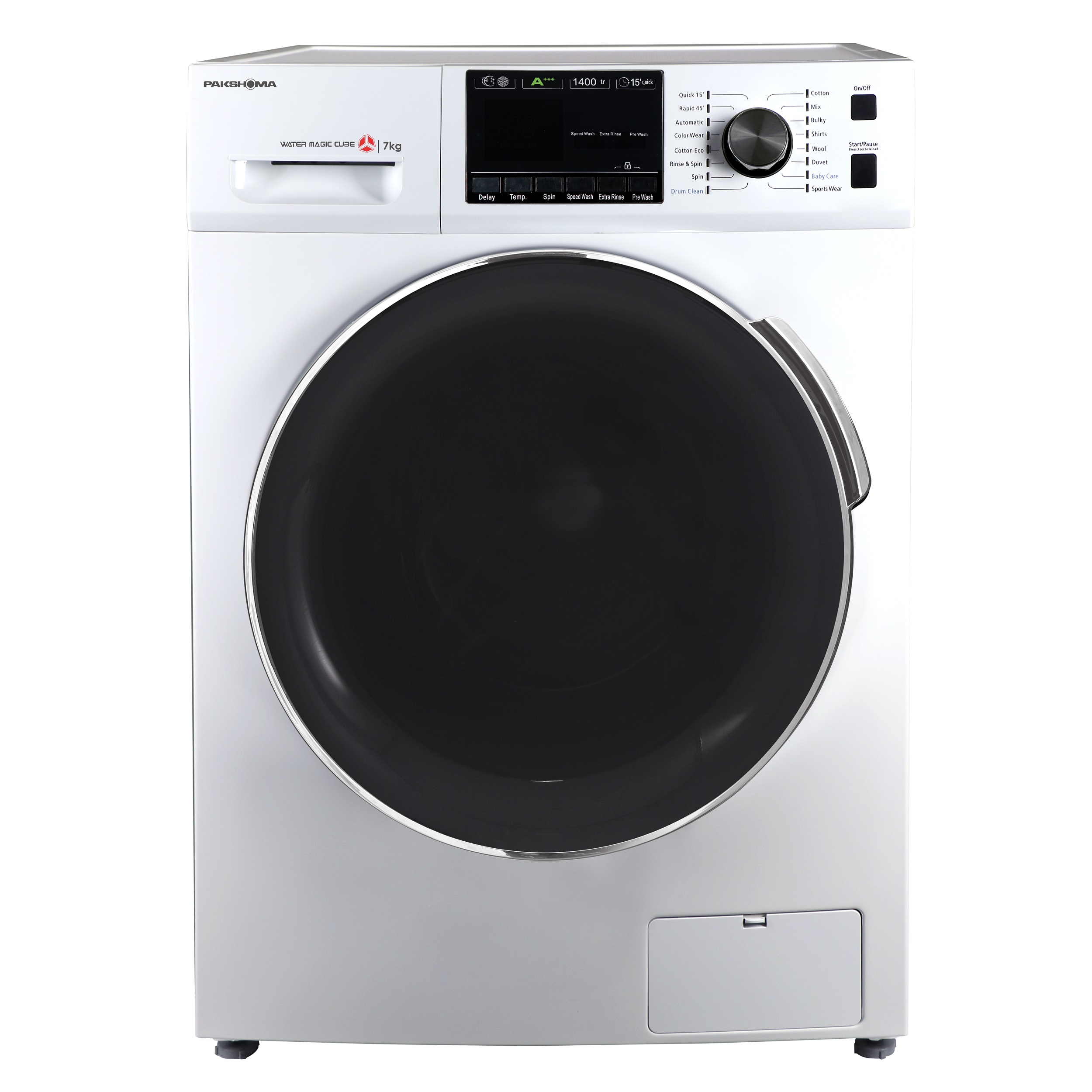 فروش نقدی یا اقساطی ماشین لباسشویی پاکشوما مدل TFU-74401 ظرفیت 7 کیلوگرم