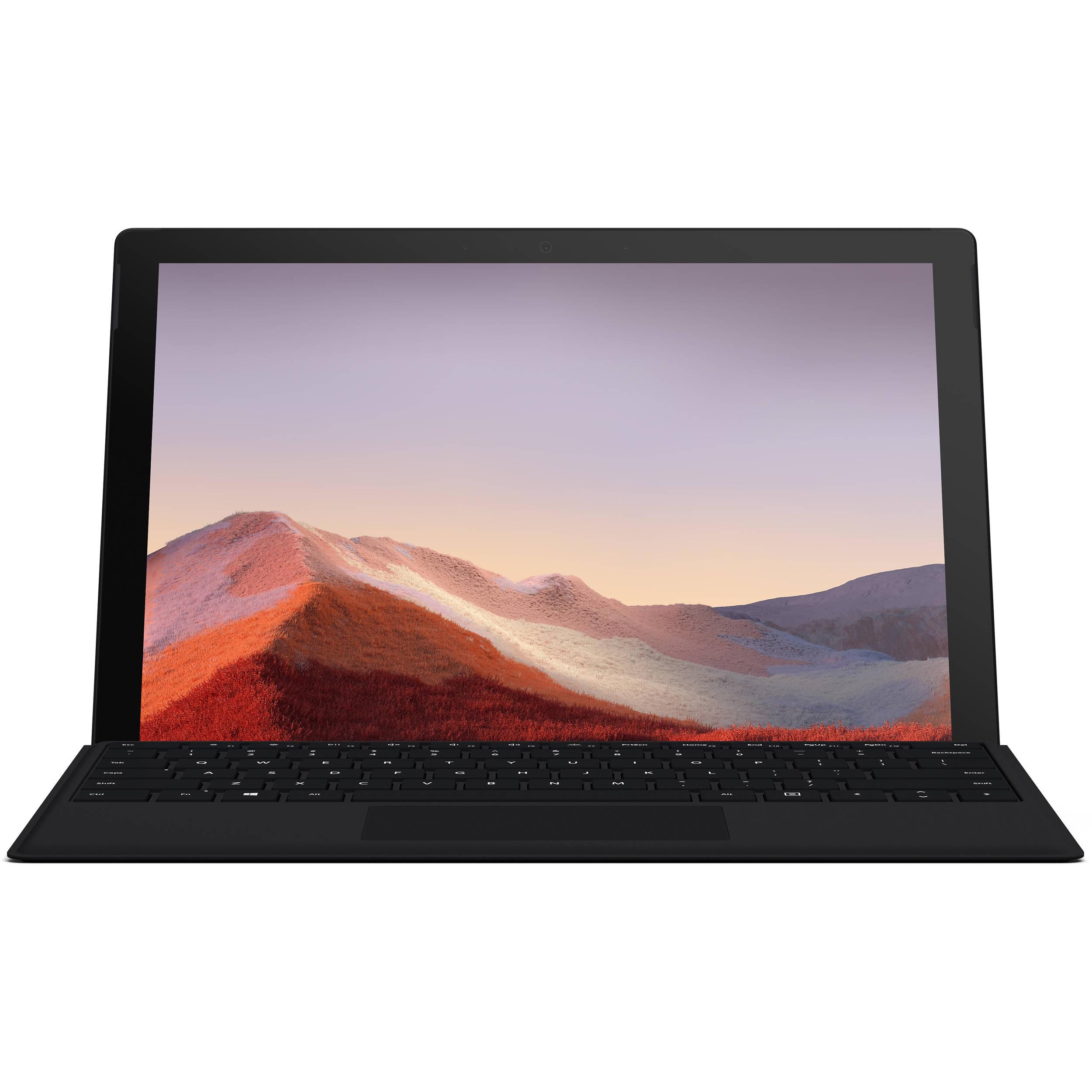 فروش نقدی و اقساطی تبلت مایکروسافت مدل Surface Pro 7 - G به همراه کیبورد Black Type Cover