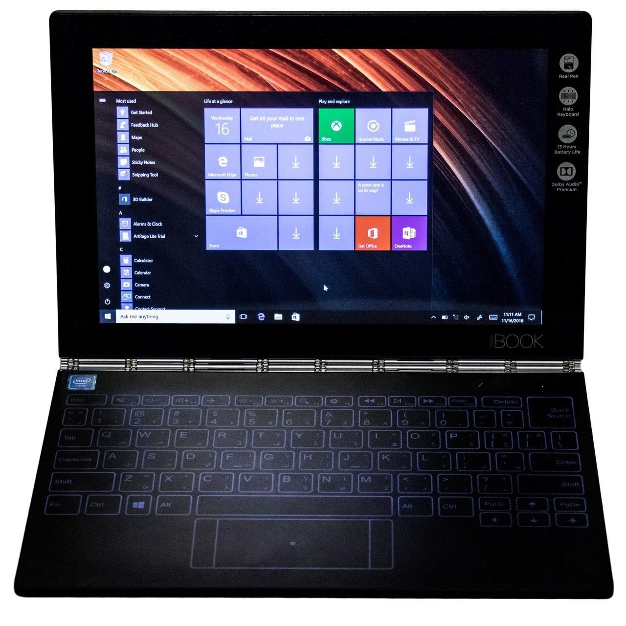 فروش نقدی و اقساطی تبلت لنوو مدل Yoga Book With Windows 4G ظرفیت 128 گیگابایت