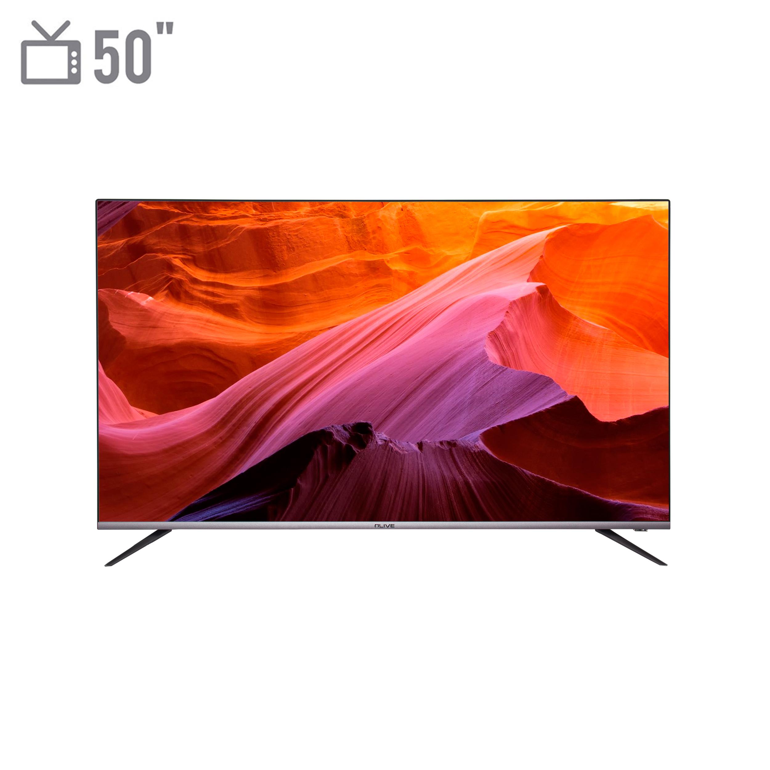 فروش نقدی و اقساطی تلويزيون ال ای دی هوشمند الیو مدل 50UD8450 سایز 50 اینچ